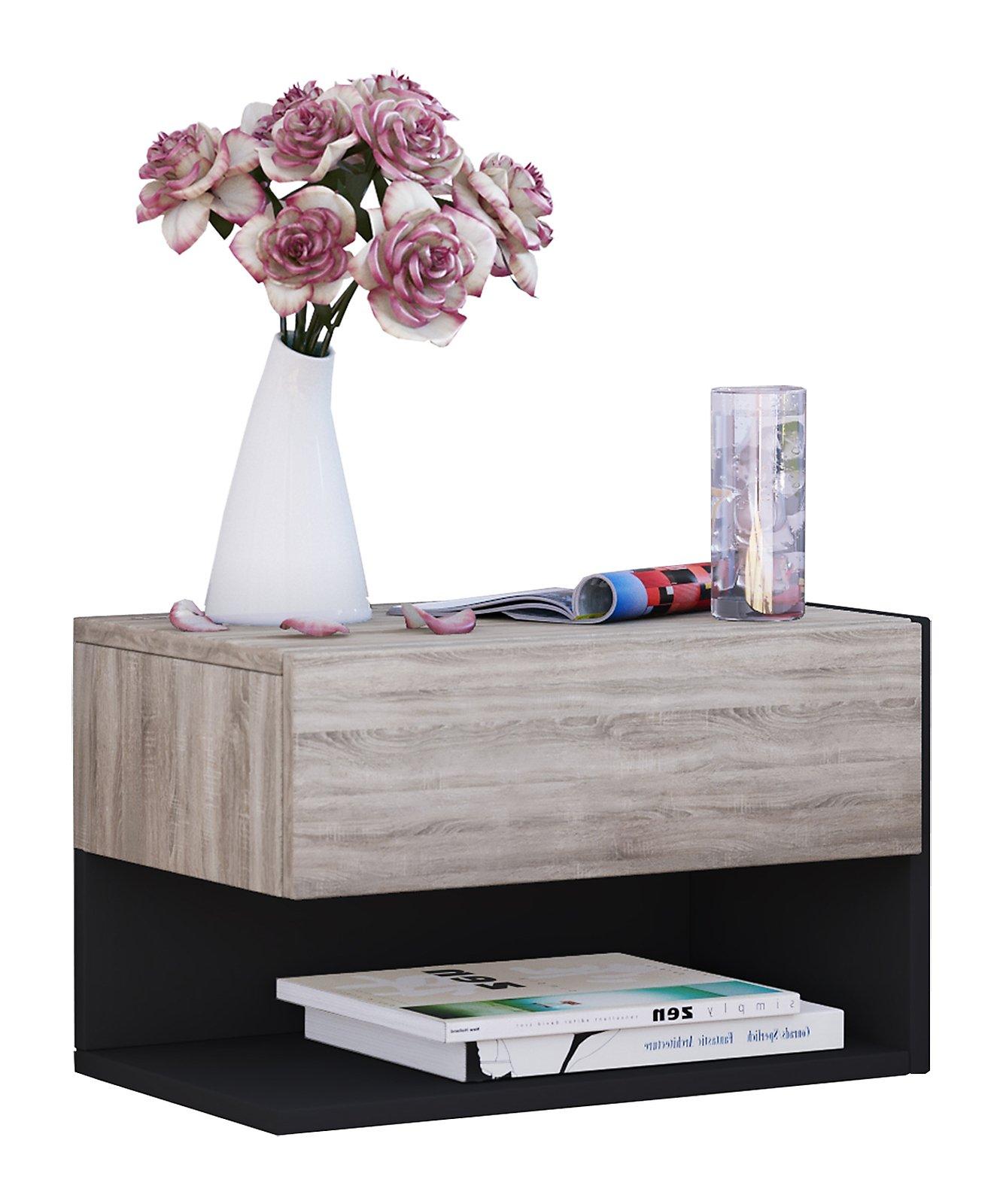 vcm wandschublade h ngeschrank wandregal mit schublade. Black Bedroom Furniture Sets. Home Design Ideas