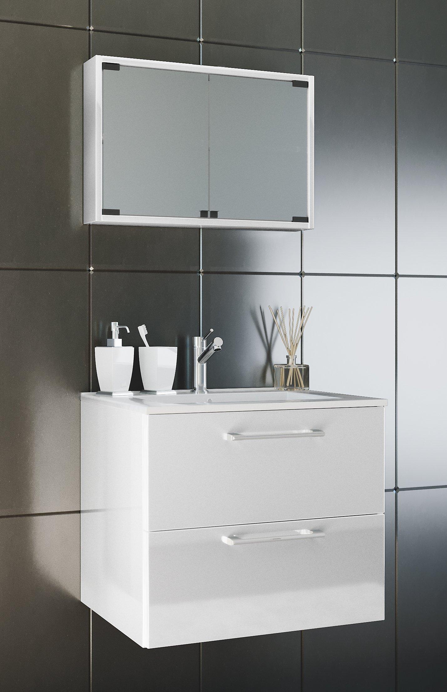 Vcm Waschplatz Badmobel Badezimmer Komplett Set Waschtisch