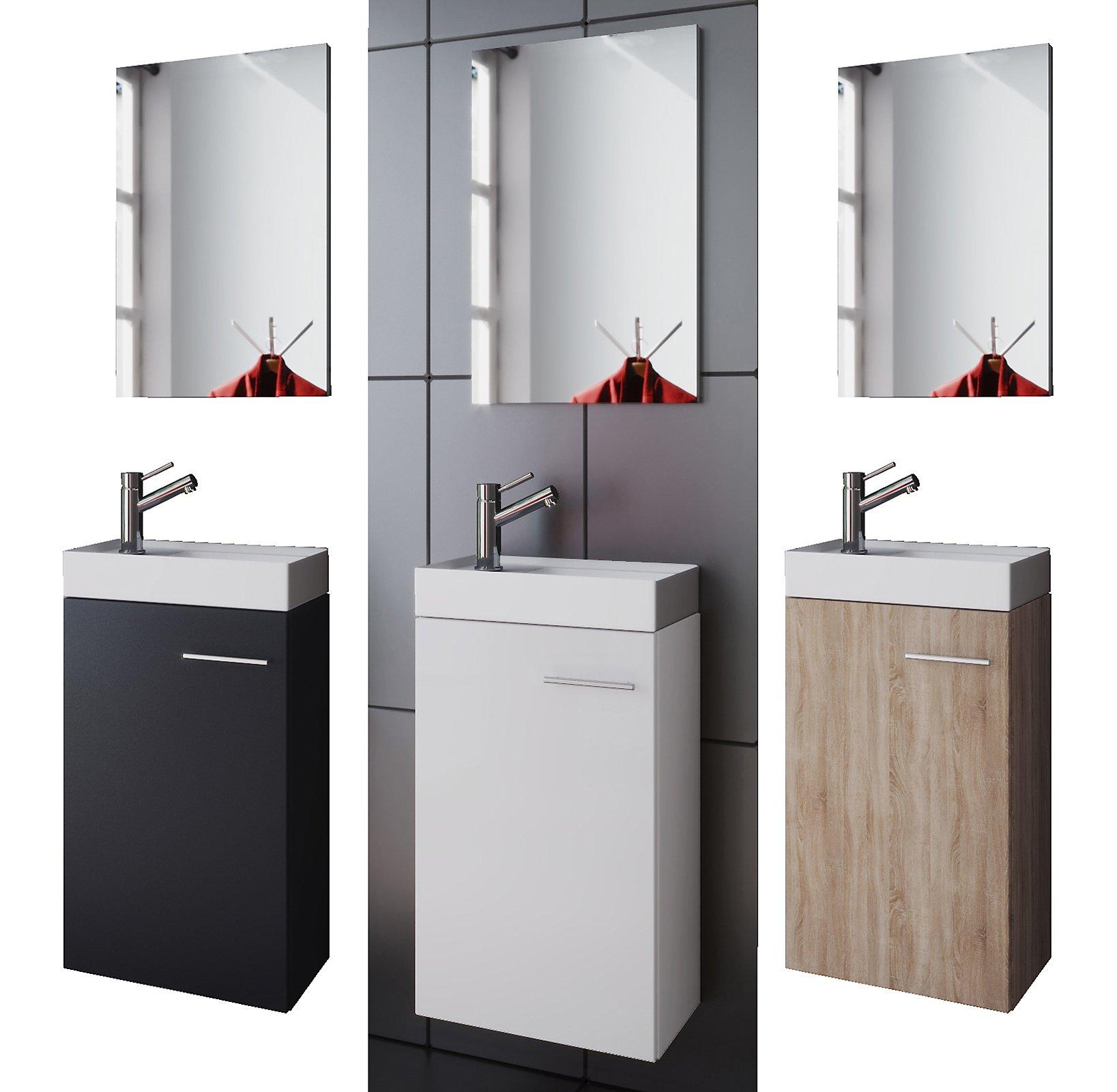 Vcm Waschplatz Waschbecken Schrank Spiegel Wc Gäste Toilette