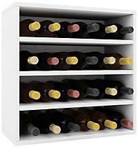 """VCM Wein-Regalserie Regal Weinregal Weinschrank Weinflaschen Schrank Holz Würfel Flaschen Aufbewahrung """"Weino"""" (Farbe: Weino lV: Weiß) - Produktdetailbild 2"""