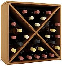 """VCM Wein-Regalserie Regal Weinregal Weinschrank Weinflaschen Schrank Holz Würfel Flaschen Aufbewahrung """"Weino"""" (Farbe: Weino lll: Buche) - Produktdetailbild 2"""