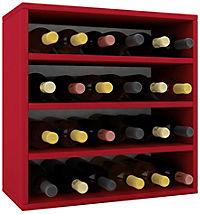"""VCM Wein-Regalserie Regal Weinregal Weinschrank Weinflaschen Schrank Holz Würfel Flaschen Aufbewahrung """"Weino"""" (Farbe: Weino lV: Rot) - Produktdetailbild 2"""