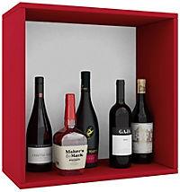 "VCM Wein-Regalserie Regal Weinregal Weinschrank Weinflaschen Schrank Holz Würfel Flaschen Aufbewahrung ""Weino"" (Farbe: Weino l: Rot) - Produktdetailbild 2"