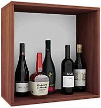 """VCM Wein-Regalserie Regal Weinregal Weinschrank Weinflaschen Schrank Holz Würfel Flaschen Aufbewahrung """"Weino"""" (Farbe: Weino l: Kern-Nussbaum) - Produktdetailbild 1"""