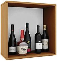 """VCM Wein-Regalserie Regal Weinregal Weinschrank Weinflaschen Schrank Holz Würfel Flaschen Aufbewahrung """"Weino"""" (Farbe: Weino l: Buche) - Produktdetailbild 2"""