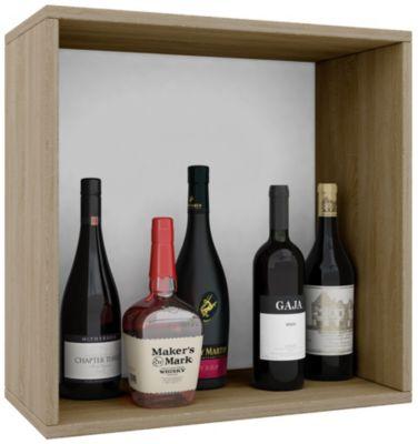 VCM Wein-Regalserie Regal Weinregal Weinschrank Weinflaschen Schrank Holz Würfel Flaschen Aufbewahrung Weino VCM Weinregal-Serie Weino (Farbe: Weino l: Sonoma-Eiche)