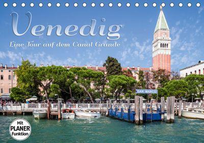 VENEDIG Eine Tour auf dem Canal Grande (Tischkalender 2019 DIN A5 quer), Melanie Viola