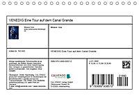 VENEDIG Eine Tour auf dem Canal Grande (Tischkalender 2019 DIN A5 quer) - Produktdetailbild 13