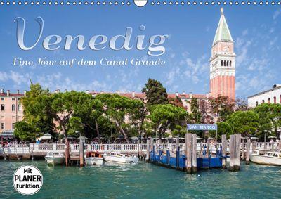 VENEDIG Eine Tour auf dem Canal Grande (Wandkalender 2019 DIN A3 quer), Melanie Viola