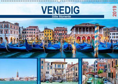 Venedig - Stille Momente (Wandkalender 2019 DIN A2 quer), Hetizia