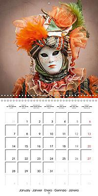 Venetian masks (Wall Calendar 2019 300 × 300 mm Square) - Produktdetailbild 1
