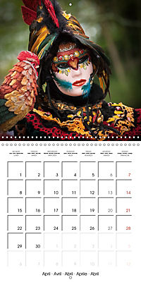 Venetian masks (Wall Calendar 2019 300 × 300 mm Square) - Produktdetailbild 4