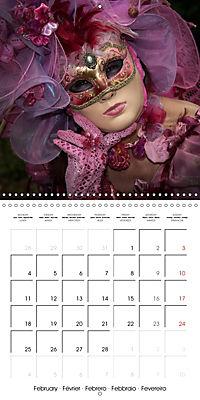 Venetian masks (Wall Calendar 2019 300 × 300 mm Square) - Produktdetailbild 2