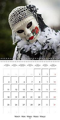 Venetian masks (Wall Calendar 2019 300 × 300 mm Square) - Produktdetailbild 3