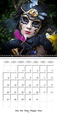 Venetian masks (Wall Calendar 2019 300 × 300 mm Square) - Produktdetailbild 5