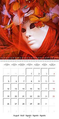 Venetian masks (Wall Calendar 2019 300 × 300 mm Square) - Produktdetailbild 8