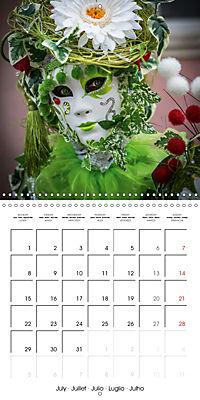 Venetian masks (Wall Calendar 2019 300 × 300 mm Square) - Produktdetailbild 7
