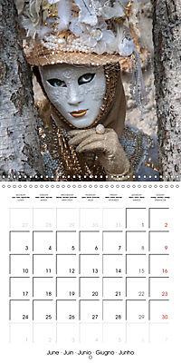 Venetian masks (Wall Calendar 2019 300 × 300 mm Square) - Produktdetailbild 6