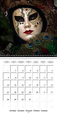 Venetian masks (Wall Calendar 2019 300 × 300 mm Square) - Produktdetailbild 10