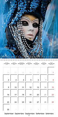 Venetian masks (Wall Calendar 2019 300 × 300 mm Square) - Produktdetailbild 9
