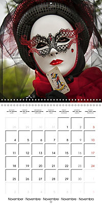 Venetian masks (Wall Calendar 2019 300 × 300 mm Square) - Produktdetailbild 11
