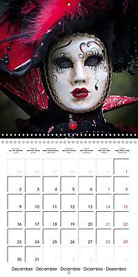 Venetian masks (Wall Calendar 2019 300 × 300 mm Square) - Produktdetailbild 12