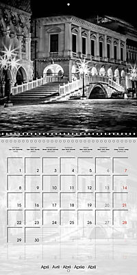 VENICE Monochrome Nightscapes (Wall Calendar 2019 300 × 300 mm Square) - Produktdetailbild 4