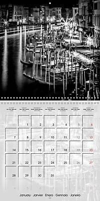 VENICE Monochrome Nightscapes (Wall Calendar 2019 300 × 300 mm Square) - Produktdetailbild 1