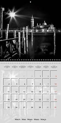 VENICE Monochrome Nightscapes (Wall Calendar 2019 300 × 300 mm Square) - Produktdetailbild 3