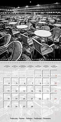 VENICE Monochrome Nightscapes (Wall Calendar 2019 300 × 300 mm Square) - Produktdetailbild 2