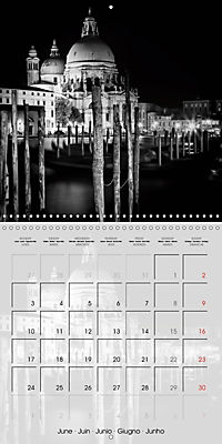 VENICE Monochrome Nightscapes (Wall Calendar 2019 300 × 300 mm Square) - Produktdetailbild 6