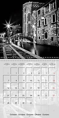 VENICE Monochrome Nightscapes (Wall Calendar 2019 300 × 300 mm Square) - Produktdetailbild 10
