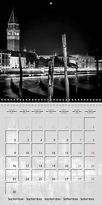 VENICE Monochrome Nightscapes (Wall Calendar 2019 300 × 300 mm Square) - Produktdetailbild 9