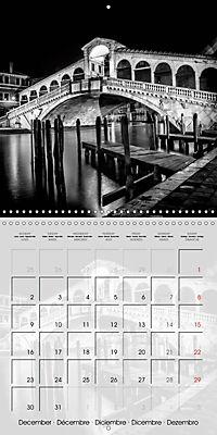 VENICE Monochrome Nightscapes (Wall Calendar 2019 300 × 300 mm Square) - Produktdetailbild 12