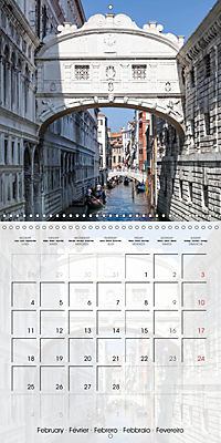 VENICE Unique attractions (Wall Calendar 2019 300 × 300 mm Square) - Produktdetailbild 2