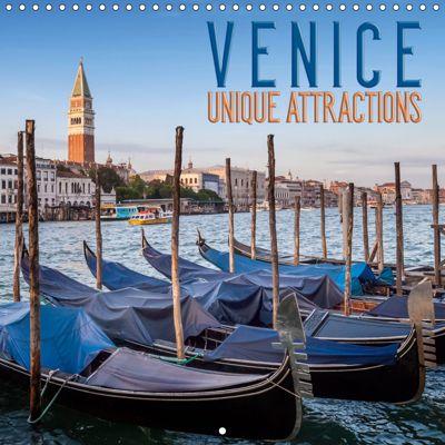 VENICE Unique attractions (Wall Calendar 2019 300 × 300 mm Square), Melanie Viola