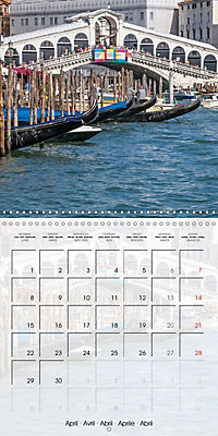 VENICE Unique attractions (Wall Calendar 2019 300 × 300 mm Square) - Produktdetailbild 4