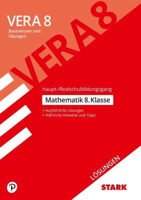 VERA 8 2019 - Testheft 1: Haupt-/Realschule - Mathematik 8. Klasse Lösungen