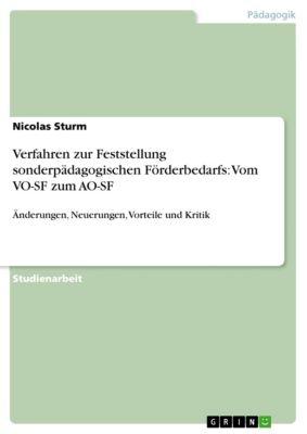 Verfahren zur Feststellung sonderpädagogischen Förderbedarfs: Vom VO-SF zum AO-SF, Nicolas Sturm