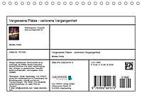 Vergessene Plätze - verlorene Vergangenheit (Tischkalender 2019 DIN A5 quer) - Produktdetailbild 13