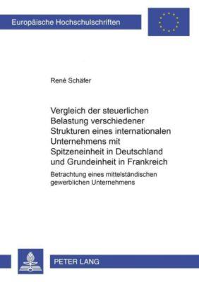 Vergleich der steuerlichen Belastung verschiedener Strukturen eines internationalen Unternehmens mit Spitzeneinheit in Deutschland und Grundeinheit in Frankreich, René Schäfer