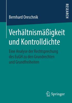 Verhältnismäßigkeit und Kontrolldichte - Bernhard Oreschnik pdf epub