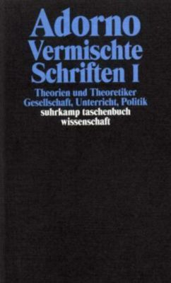 Vermischte Schriften, 2 Tle., Theodor W. Adorno