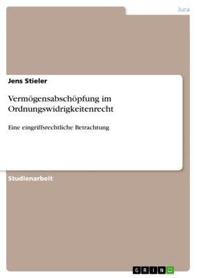 Vermögensabschöpfung im Ordnungswidrigkeitenrecht, Jens Stieler