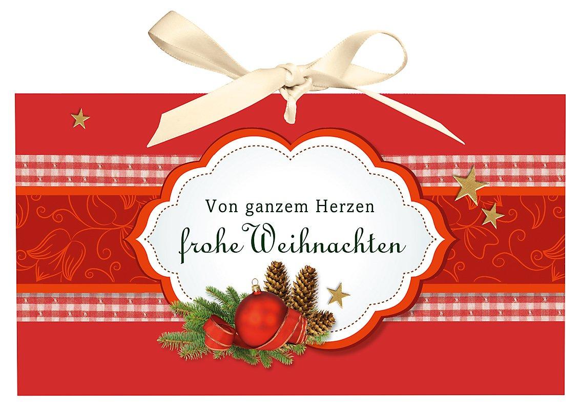 Verpackung Geldgeschenk Von Ganzem Herzen Frohe Weihnachten
