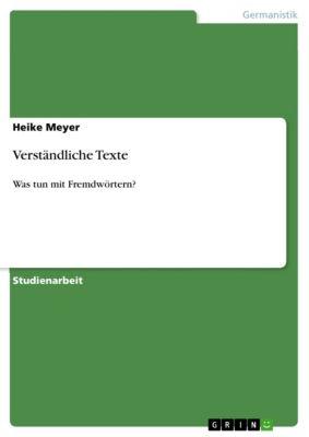 Verständliche Texte, Heike Meyer