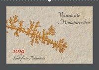 Versteinerte Miniaturwelten. Solnhofener Plattenkalk (Wandkalender 2019 DIN A2 quer), Dietmar Leitner
