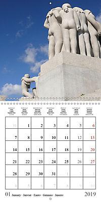 Vigeland Sculpture Park Oslo (Wall Calendar 2019 300 × 300 mm Square) - Produktdetailbild 1