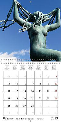 Vigeland Sculpture Park Oslo (Wall Calendar 2019 300 × 300 mm Square) - Produktdetailbild 2