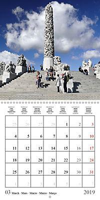 Vigeland Sculpture Park Oslo (Wall Calendar 2019 300 × 300 mm Square) - Produktdetailbild 3